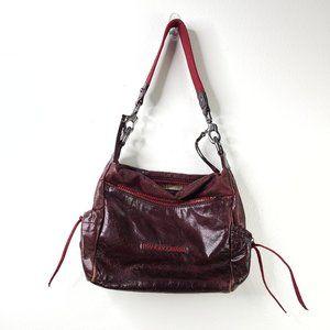 Francesco Biasia 100% Cowhide leather burgundy